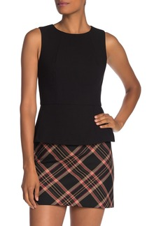 Trina Turk Milagro Solid Sleeveless Peplum Top