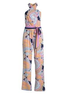 Trina Turk Modern Miami Antilla Paisley Print Jumpsuit