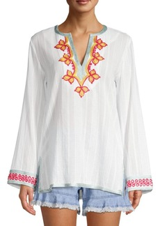 Trina Turk Modern Miami Embroidered Cotton Tunic