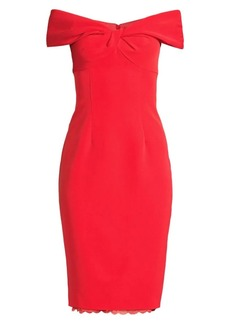 Trina Turk Modernism Imperative Off-The-Shoulder Sheath Dress