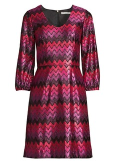 Trina Turk Nicole Chevron A-Line Dress