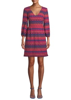 Trina Turk Nicole Crochet Dress w/ Bubble Sleeves