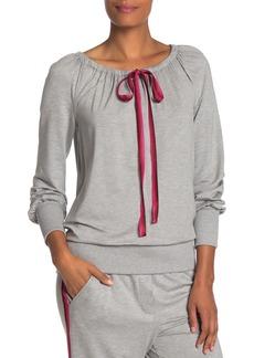 Trina Turk Oakland Drawstring Long Sleeve Pullover