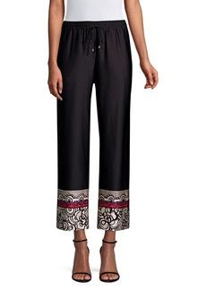 Trina Turk Obsidian Printed Cuff Pants