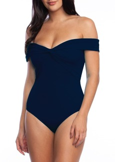 Trina Turk Off the Shoulder One-Piece Swimsuit