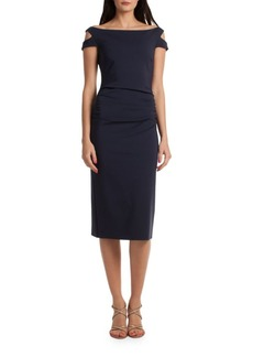 Trina Turk Off-The-Shoulder Sheath Dress