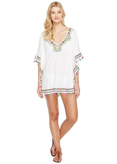 Trina Turk Paisley Embroidery Caftan Cover-Up