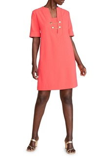 Trina Turk Palm Chain Trim Shift Dress