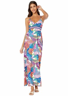 Trina Turk Paradise Plume Maxi Dress Cover-Up