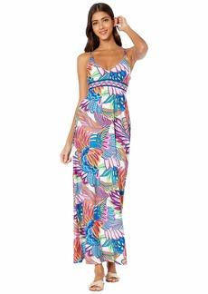 Trina Turk Paradise Plume Maxi Dress Cover-Up