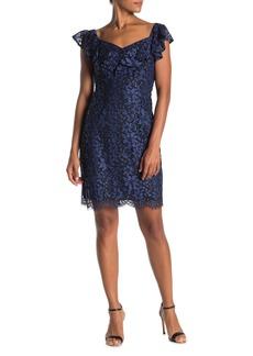 Trina Turk Paula Short Ruffle Sleeve Dress