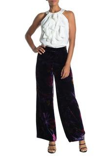 Trina Turk Penelope Floral Print Velour Pants