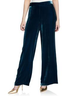 Trina Turk Penelope Wide-Leg Velvet Pants