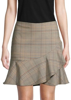 Trina Turk Plaid-Print Mini Skirt