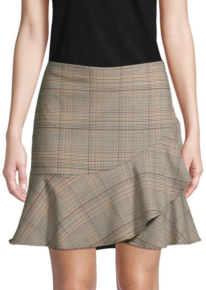Trina Turk Plaid-Print Mini Skirt