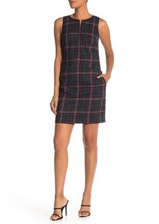 Trina Turk Plaid Sleeveless Mini Dress