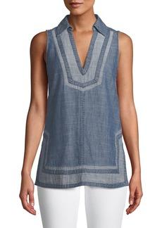 90e715d4c543b5 Trina Turk Trina Turk Amaranth Sequin-Collar Blouse | Casual Shirts