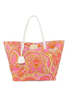 Trina Turk Printed Canvas Slouchy Tote