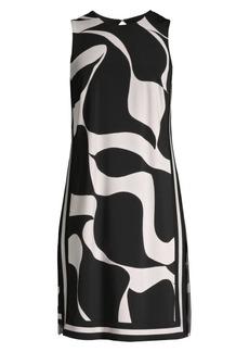 Trina Turk Printed Sleeveless Shift Dress