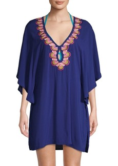 Trina Turk Rainbow Embroidered Coverup