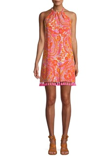 Trina Turk Rancho 3 Fringed Printed Dress