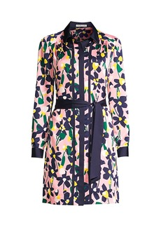 Trina Turk Renew Graphic Floral Shirtdress
