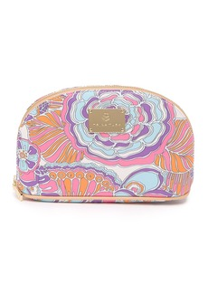 Trina Turk Retro Floral Medium Dome Cosmetic Case
