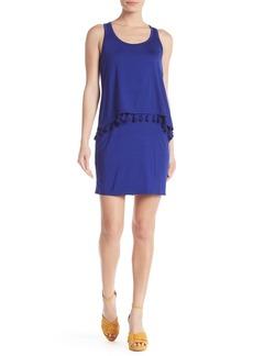 Trina Turk Richmond Scoop Neck Tassel Trim Dress