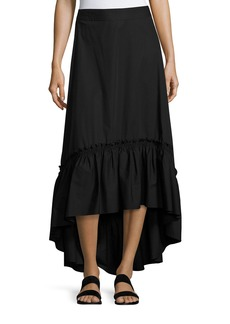 Trina Turk Rosamund Shirred High-Low Maxi Skirt