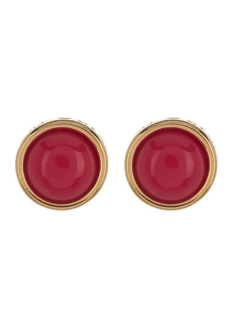 Trina Turk Round Resin Stud Earrings