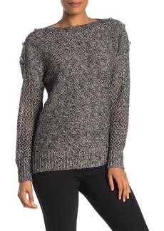 Trina Turk Salty Dog Embellished Shoulder Sweater