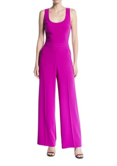 Trina Turk Scoop-Neck Sleeveless Wide-Leg Jumpsuit