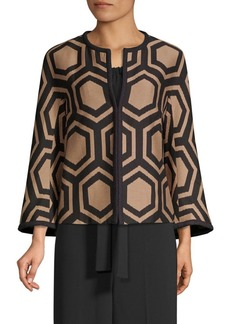 Trina Turk Sentido Geometric Jacket
