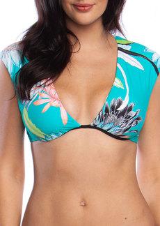 Trina Turk Shangri La Floral Cap-Sleeve Underwire Bikini Top