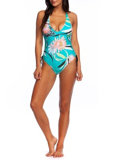 Trina Turk Shangri La Floral Side-Tie One-Piece Swimsuit