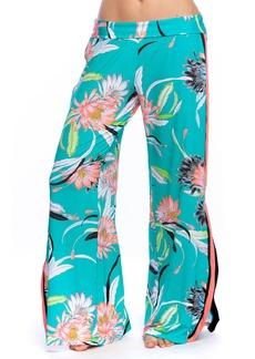 Trina Turk Shangri La Floral Wide-Leg Coverup Pants