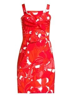 Trina Turk Shangri-La Lani Bow A-Line Dress