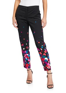 Trina Turk Sheree Dot-Print Ankle Pants