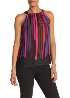 Trina Turk Side Car Stripe Halter Top