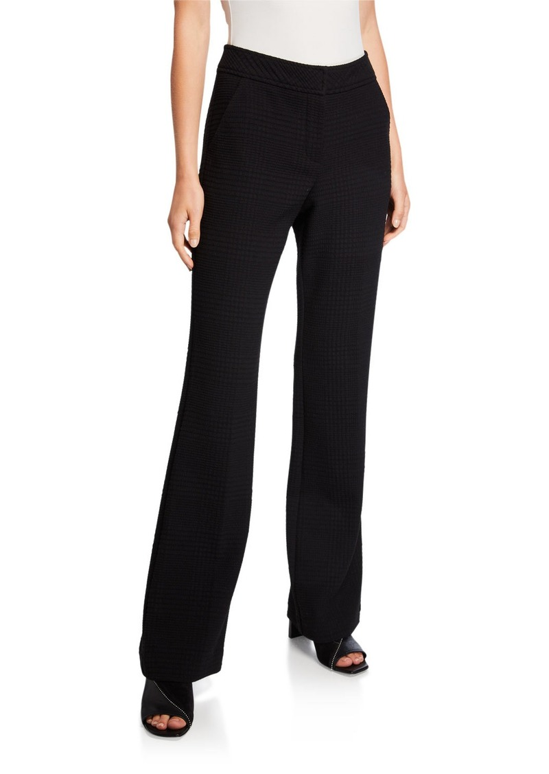Trina Turk Smart Denim Flare-Leg Pants