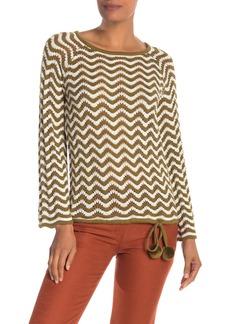 Trina Turk Solana Striped Pom-Pom Sweater