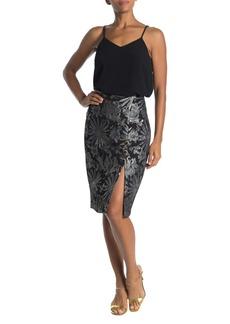 Trina Turk Southern Comfort Floral Print Metallic Accent Skirt