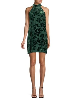 Trina Turk Spree Silk-Blend Choker Shift Dress