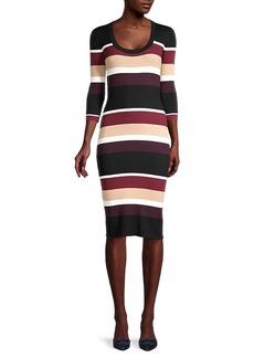 Trina Turk Striped Bodycon Dress