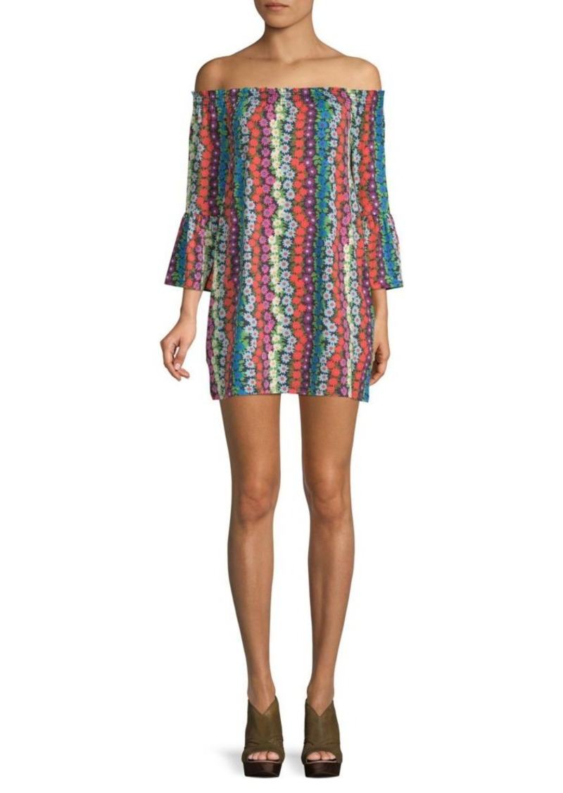 Trina Turk Swing Bell-Sleeve Floral Dress