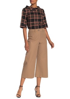 Trina Turk Tailor Wide Leg Crop Twill Pants