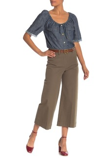 Trina Turk Tailor Wide Leg Cropped Pants