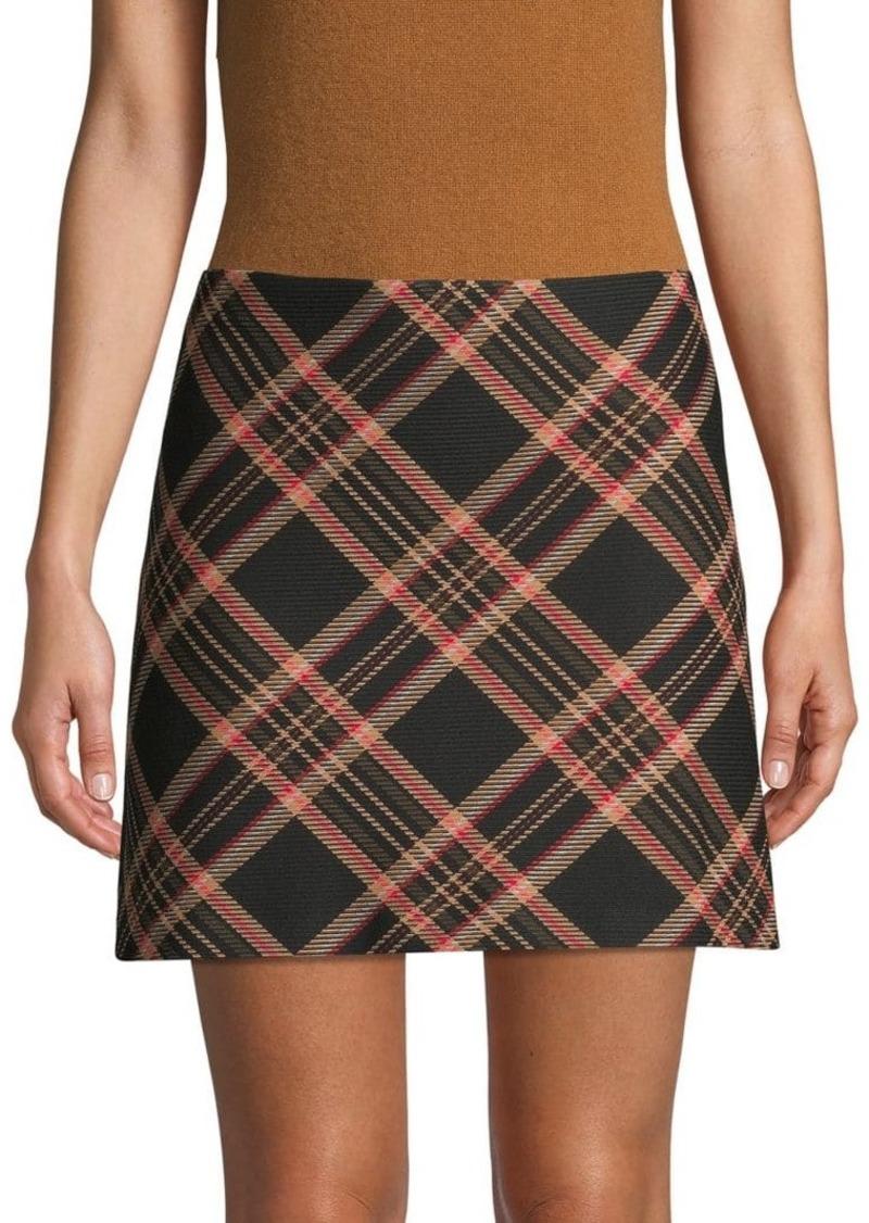 Trina Turk Tartan Plaid Mini Skirt