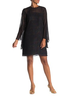 Trina Turk Tess Multicolored Textured Long Sleeve Dress