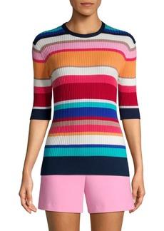Trina Turk The Tourist Striped Cotton Sweater